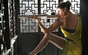girl, brunette, actress, legs, Rebecca Ferguson, Mission Impossible Rogue Nation