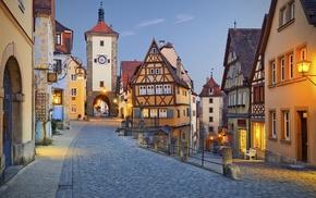 house, Germany, village, clear sky, city, street
