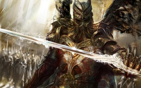 video games, concept art, army, warrior, sword, knight