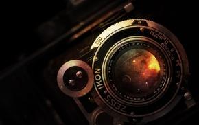camera, vintage, galaxy, artwork