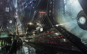 science fiction, artwork, digital art, city, futuristic
