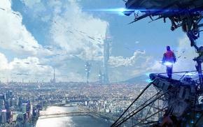 artwork, cityscape, concept art, digital art, city, Back to the Future