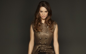 girl, actress, brunette, Desperate Housewives, leather clothing, Agent Carter