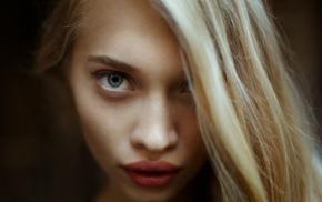 juicy lips, face, blue eyes, girl, blonde, portrait