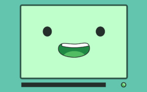 Adventure Time, BMO, blue, green