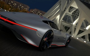 Mercedes, Benz AMG Vision Gran Turismo, video games, car, Gran Turismo 5