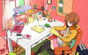 anime girls, room, Makino Kanna, Tamako Market