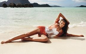 lying down, beach, hot pants, sand, wet body, wet clothing