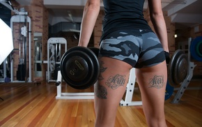 dumbbells, the gap, legs, tattoo, ass, gyms