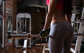 girl, sports bra, fitness model, yoga pants, ass, gyms