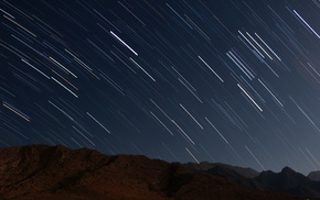 long exposure, sky, mountain, stars