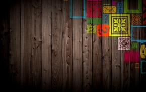 walls, colorful, wood
