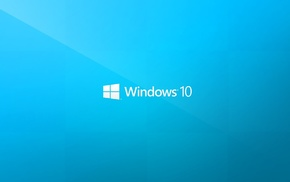 logo, window, Windows 10, minimalism, typography