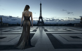 back, landscape, Paris, the gap, girl, ass