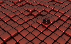 render, shapes, 3D, red