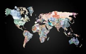 map, money