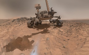 Curiosity, self portraits, Mars, Rover, selfies