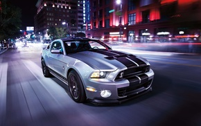 gt500, motion blur, car, Shelby, Ford