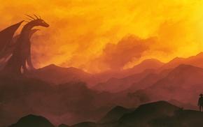 fantasy art, artwork, dragon