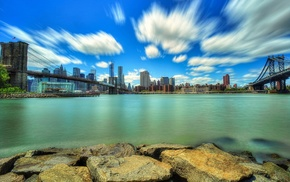 USA, water, long exposure, architecture, city, sea