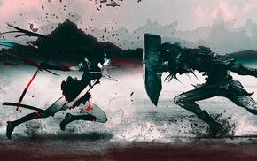 photo manipulation, Black Rock Shooter, Link, anime, The Legend of Zelda