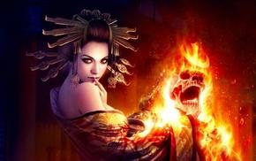 skull, artwork, fantasy art