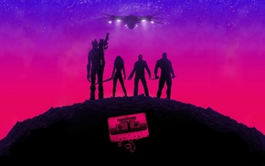 purple, Guardians of the Galaxy, music, pink