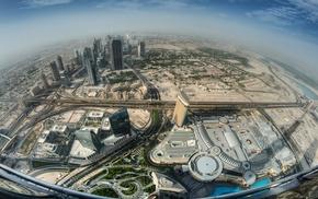 balconies, landscape, cityscape, mist, architecture, Dubai