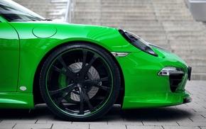 Porsche, green, Porsche Carrera 4S, car, Porsche 911