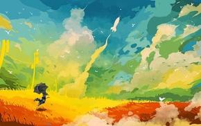 fantasy art, landscape, colorful