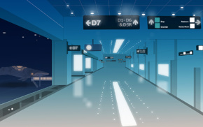 airport, surreal, hallway, whale