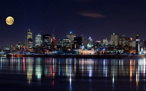 Canada, architecture, modern, urban, night, cityscape