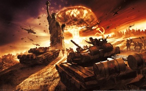 aircraft, nuclear, explosion, video games, war, helicopters