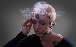 girl, artwork, digital art, futuristic