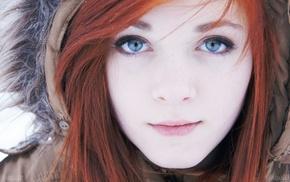 girl, face, redhead