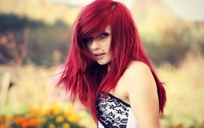 girl, redhead, dyed hair