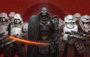 science fiction, Darth Vader, Star Wars, samurai