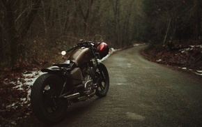 Bobber, snow, road, nature, trees, wheels