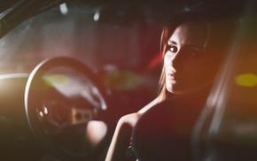 model, car, girl