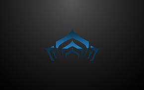 Warframe, gradient, simple background, logo