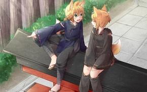 fox girl, Kagamine Rin, anime, Vocaloid, anime girls, kitsunemimi
