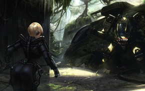 cyberpunk, artwork, futuristic