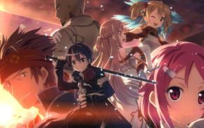 Agil, anime girls, Ayano Keiko, Yuuki Asuna, Tsuboi Ryotaro, Kirigaya Kazuto