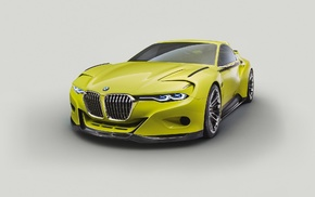 BMW, vehicle, BMW 30 CSL Hommage Concept, car, green cars, simple background