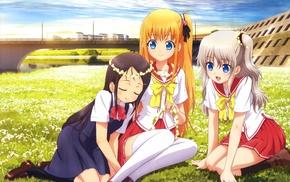 Charlotte anime, Otosaka Ayumi, anime girls, Nishimori Yusa, Tomori Nao, school uniform