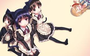 Kousaka Kirino, Gokou Ruri, maid outfit, Gokou Tamaki, Ore no Imouto ga Konnani Kawaii Wake ga Nai, Gokou Hinata