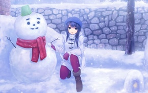snow, Coffee, Kizoku, original characters, anime girls