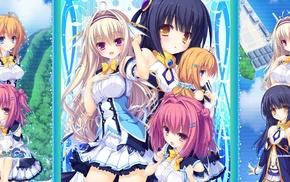 Narumi Marine, Kamitouno Ena, visual novel, anime girls, Riru Whale, Tenkawa Mitsuki