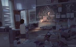 original characters, classroom, Silent Hill  2, flashlight, abandoned, Pyramid Head