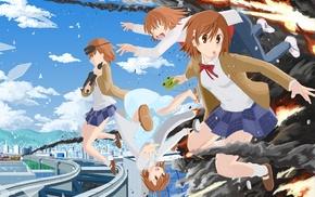 anime girls, Misaka Imouto, To aru Majutsu no Index, Misaka Mikoto, explosion, Last Order